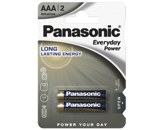 Щелочные батарейки Everyday Power (AAA) Panasonic LR03REE/2BR литиевые дисковые батарейки panasonic panasonic cr 2025el 1b