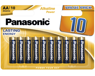 Щелочные батарейки Alkaline Power (AA) Panasonic LR6REB/10BW цена и фото