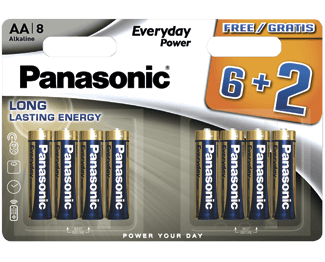 Щелочные батарейки Everyday Power (AA) Panasonic LR6REE/8B2F свитер everyday kelvin