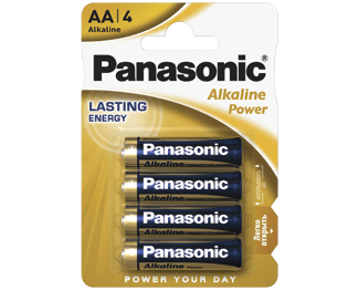 Щелочные батарейки Alkaline Power (AA) Panasonic LR6REB/4BPR цена и фото