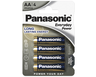 Щелочные батарейки Everyday Power (AA) Panasonic LR6REE/4BR свитер everyday kelvin