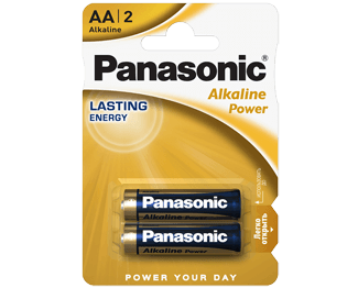 Щелочные батарейки Alkaline Power (AA) Panasonic LR6REB/2BPR цена и фото