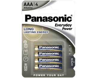 Щелочные батарейки Everyday Power (AAA) Panasonic LR03REE/4BR свитер everyday kelvin