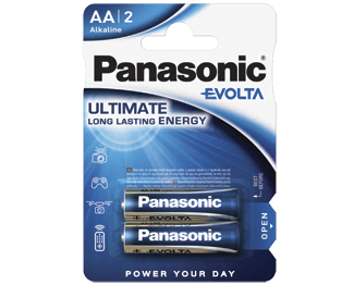 Щелочные батарейки Evolta (AA) Panasonic LR6EGE/2BP цена и фото