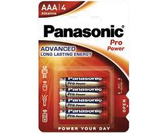 Щелочные батарейки Pro Power (AAA) Panasonic LR03XEG-4BP литиевые дисковые батарейки panasonic panasonic cr 2025el 1b