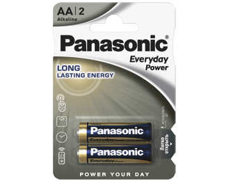 Щелочные батарейки Everyday Power (AA) Panasonic LR6REE/2BR цена и фото