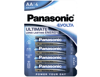 Щелочные батарейки Evolta (AA) Panasonic LR6EGE/4BP цена и фото