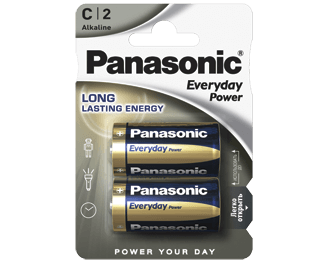 Щелочные батарейки Everyday Power (C) Panasonic LR14REE/2BR свитер everyday kelvin