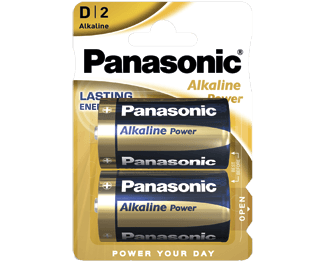 Щелочные батарейки Alkaline Power (D) Panasonic LR20REB-2BP литиевые дисковые батарейки panasonic panasonic cr 2025el 1b